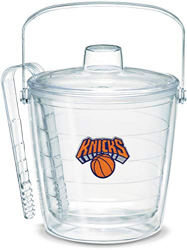 Tervis 1059366 NBA New York Knicks Primary Logo Ice Bucket with Emblem and Clear Lid 87oz Ice Bucket, Clear
