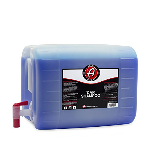 Adam's Car Wash Shampoo - pH Neutral Formula for Safe, Spot Free Cleaning - Thick, Luxurious Suds That Always Rinses Clean - Ultra Slick Formula That Wont Scratch or Leave Water Spots (5 Gallon)