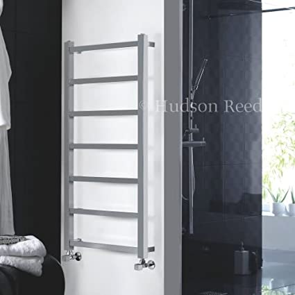 Hudson Reed - Radiador Toallero Plano Modelo Eton Para Baño / Cocina / Guardarropa - Acero