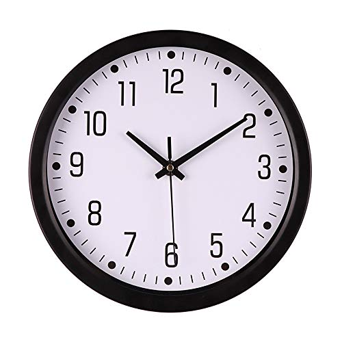 10 Inch Modern Silent Non-Ticking Round Wall Clock,Silent Quartz Sweep Battery Operated Clock Decorative,Arabic Numerals,for Home Kitchen Office Living Room,Bedroom(C)