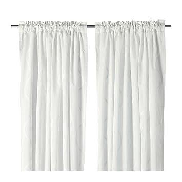 Ikea Gardine ikea hillmari gardinen 1 paar weiß 145x300 cm amazon de küche