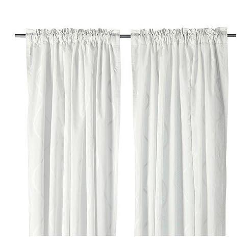 Ikea Hillmari -Gardinen 1 Paar Weiß - 145X300 Cm: Amazon.De: Küche