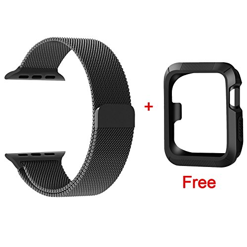 CTYBB for Apple Watch Band 38mm, Milanese Loop Stainless Steel Magnetic Lock for Apple Watch Series 3, Series 2, Series 1, Sport & Edition