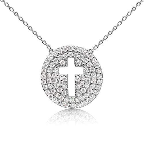 - Faith Cross Crucifix Silver Necklace Pendant