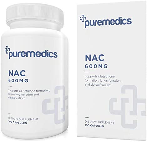 PUREMEDICS NAC 600 mg N-Acetylcysteine 600mg – NAC Supplement to Support Healthy Immune System and Healthy Lung Tissue – Recommended by Doctors – Hypoallergenic – Non-GMO – Gluten-Free – 100 Capsule