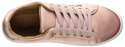 Qupid Dames Reba-165c Fashion Sneaker Mauve Satijn