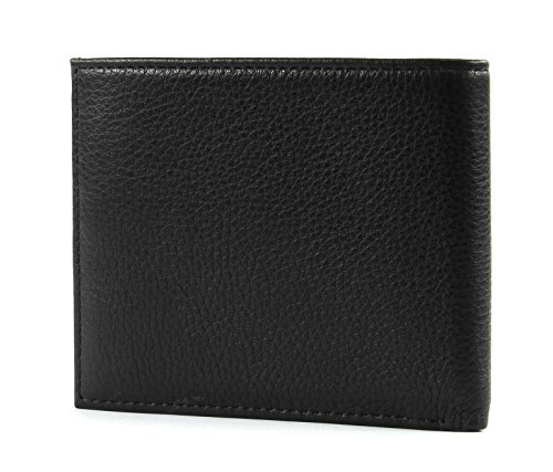 Wallet Tommy Textured Mini Hilfiger Men's Credit Black Card Leather Haw1O0Hq
