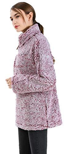 Sport Pullover Invernali Lana Caldo Di Maglione Casuale Casual Gyryp Giacca Rosa CIwXPqn