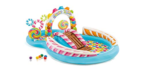 Inflatable Kids Water Play Center Candy Zone Childrens Swimming Pool Water Slide NEW ()