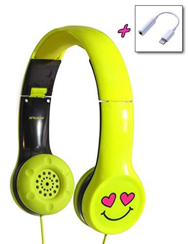 FYDELITY Ear Buds Earphone Standard Cute Anime-L Kawaii Stuff: Neon Yellow