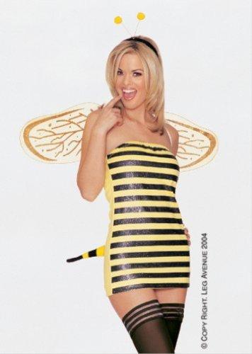 Leg Avenue 4Pc. Bee Shorts Set 8677 (BLACK/YELLOW,MED/LGE) -