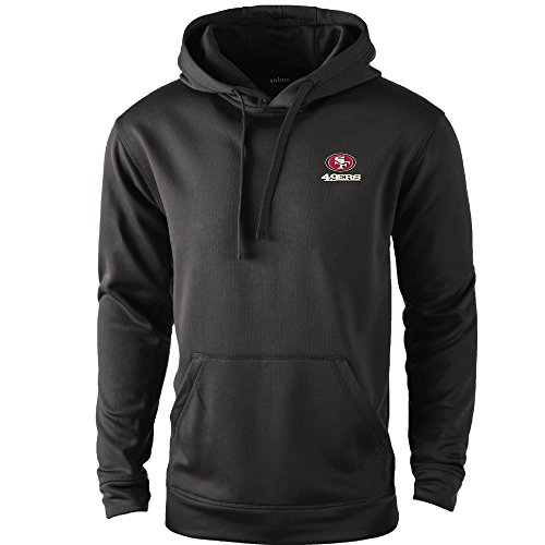 Logo Performance Fleece Pullovers - NFL San Francisco 49ers adult Champion Polyester Tech Fleece Pullover, 4X, black