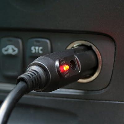 TireTek Premium 13 ft 12 Volt Cigarette Lighter Extension Cord - 12V Extension Cord 20A Fuse (Black): Automotive
