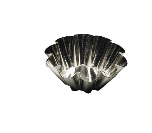 Tinned Steel Fluted Tartlet Mold - Paderno Fluted Brioche Heavy Tinned Steel Mold - 4