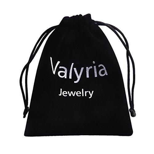 Valyria Bijoux Bague Anneaux Femme Fille en Acier Inoxydable Fantaisie Demi-forme de Coeur en Couleur Silver Tone