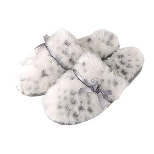 Pantoufles Plat Blanc Hiver Pantoufles Rojeam Leopard Pantoufles Femme 0xw7Yw4Iq