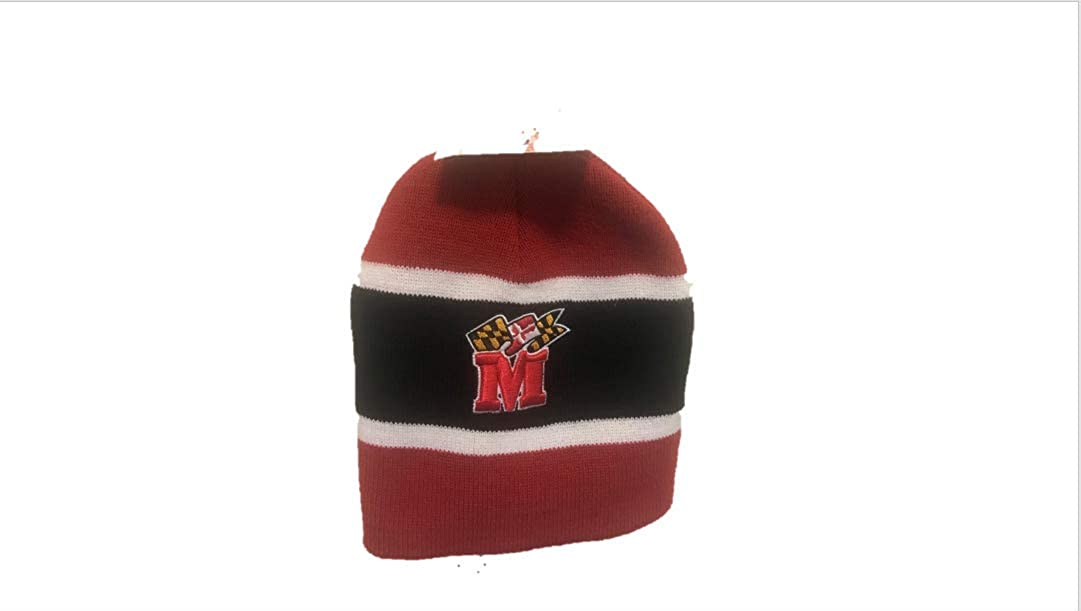 Twins University of Maryland Beanie Red and Black