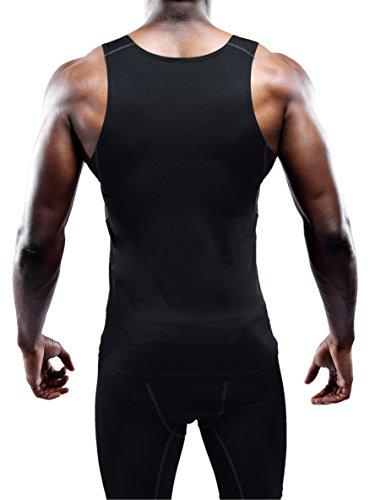 Neleus Men's Athletic 3 Pack Compression Under Base Layer Sport Tank Top,Black,XS,EUR S by Neleus (Image #3)