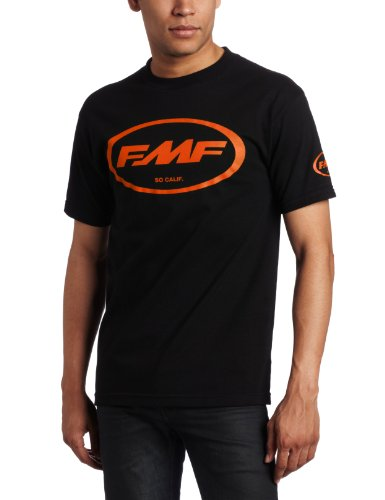 FMF Racing Men's Classic Don Shirt, Black With Orange, X-Large