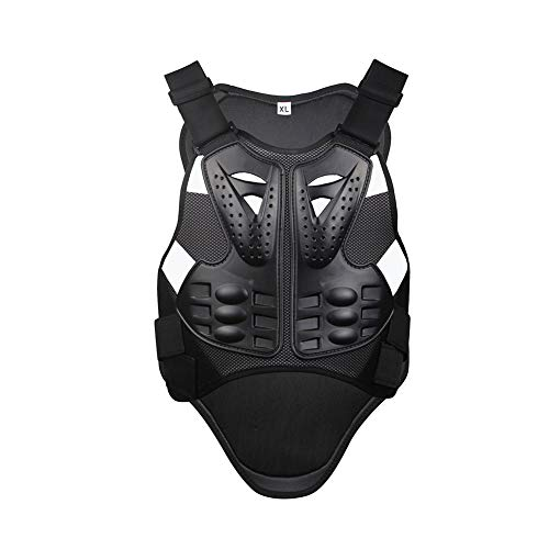 Motorcycle Armor Vest Chest Back Protector, MLSice Motorbike Body Guard Motorcross Armor Protection for Cycling Skiing Riding Skateboarding ()