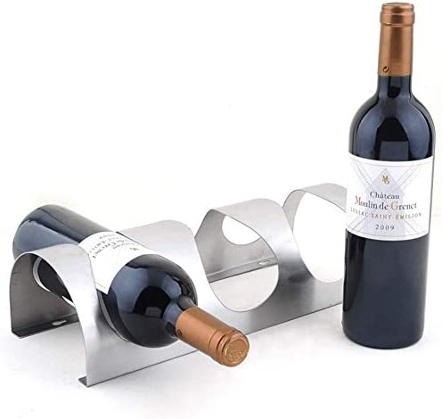 YXB Stainless Steel Wine Rack Storage Wall-mounted Wine Holder for Home Kitchen Bar Housewarming Gifts,4