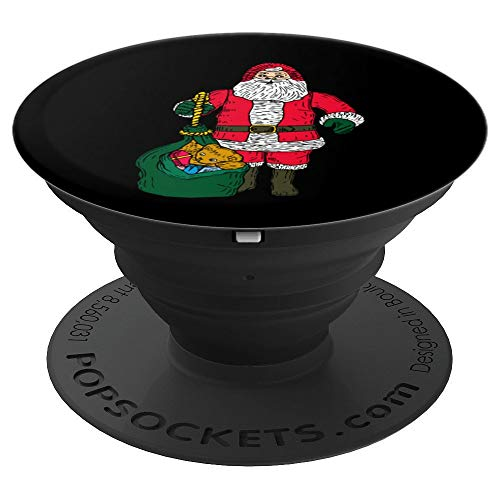 (Santa Claus With Presents Merry Christmas Ho Ho Ho Holiday - PopSockets Grip and Stand for Phones and Tablets)