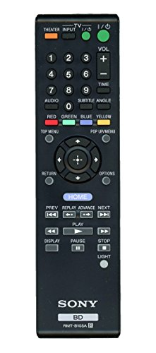 Sony RMT-B105A Blu-ray Player Remote Control for BDP-BX2, BDP-S360, BDP-N460, BDP-S560