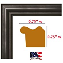 13x19 Satin Black .75 Inch wide Wrapped Solid Wood Picture Poster Photo Frame