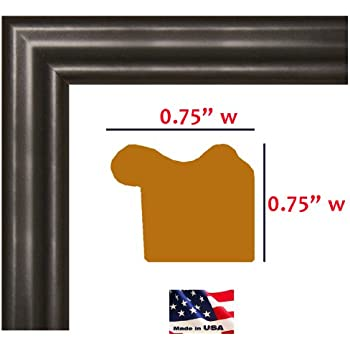 Amazon.com - 13x20 Custom Made Thin Black Picture Poster Frame Solid ...