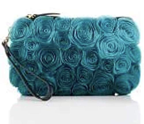 Clever Carriage Company Ribbon Rose Clutch