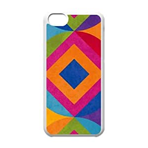 Summer Geometrics iPhone 5c Cell Phone Case White Exquisite gift (SA_584794)