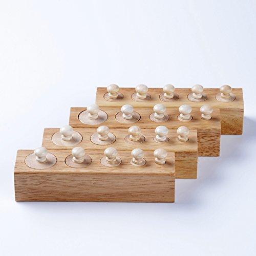 Yigooood Baby Toy Montessori Sensorial cilindri 4blocchi formazione precoce educazione Brinquedos Juguetes
