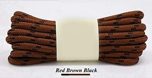 XJYWJ 1Pairアウトドアスポーツカジュアルの19Colors strings100 / 140分の120 / 160cmのスリップロープ靴ひもスニーカーブーツ靴ひもをハイキングラウンド靴ひも (Color : Red brown black, Size : 120CM)