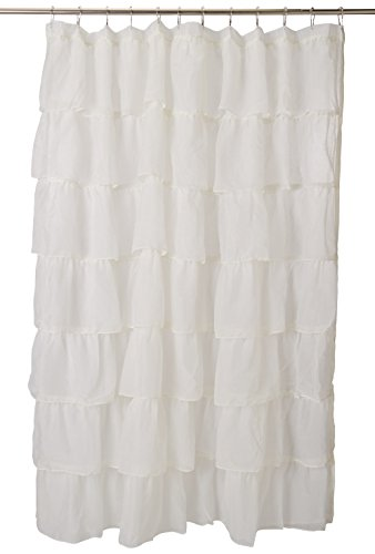 Shower Gypsy Curtain (Lorraine Home Fashions 08383-SC-00051 Gypsy Shower Curtain, Cream, 70
