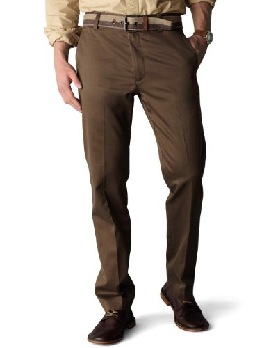 Dockers Men's Slim Fit Signature Khaki Pant D1, Branch, 33x30