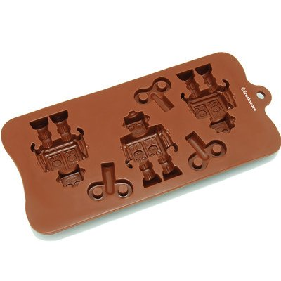 6 Cavity Robot and Key Silicone Mold Pan