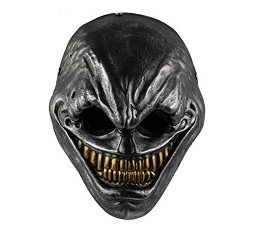Gmasking Resin Payday 2 The Grin Cosplay Mask Replica+Gmask Keychain (Sliver) -