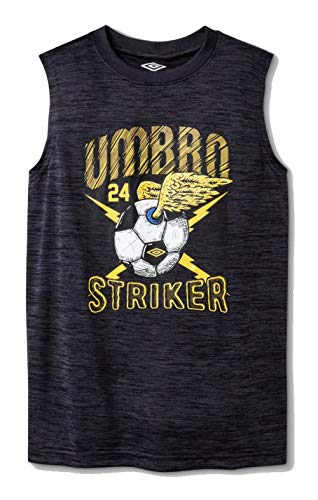 Umbro Boys' Graphic Muscle T-Shirt - (Black/Yellow, M - Soccer T-shirt Umbro