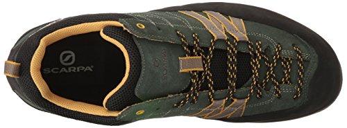 Scarpa Mens Crux Avvicinamento Scarpa Da Trekking Lichene Verde / Senape