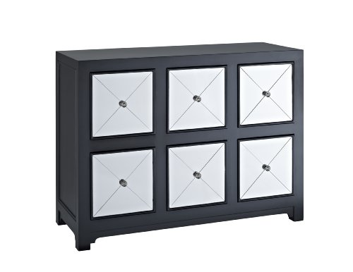 6 drawer accent console table - 4