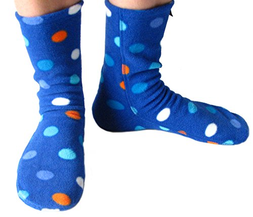 Polar Feet Adults' Fleece Socks (XL, Big City Blues) (Fleece Sock)