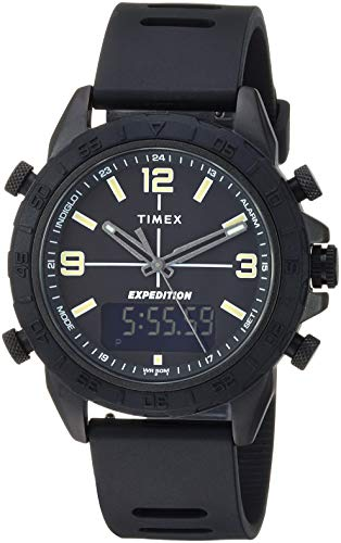 Timex Men's TW4B17000 Expedition Pioneer Combo 41mm Black Silicone Strap Watch