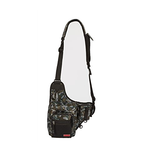 Noeby sports shoulder bag fishing piler tackle pouch crossbody messenger nylon single shoulder bag (Woodland (Woodland Camouflage Shoulder Bag)