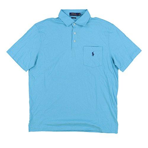 Polo Ralph Lauren Mens Interlock Pocket Polo Shirt (Medium, Aqua)