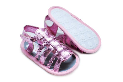 Gladiator Sandals Crib - Style 5 - Pink - UK 0-6m
