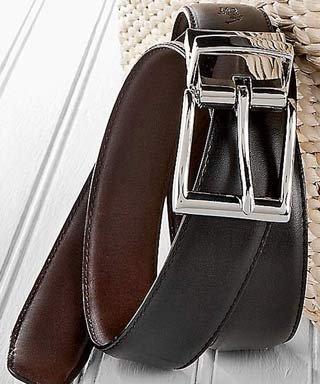 Ralph Lauren Reversible Belt (Polo Ralph Lauren Reversible Saddle Leather Belt, Black/Brown (52))