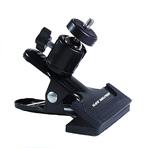 Tripod Camera Clip Clamp Flash Reflector Holder Mount with 1/4 Inch Screw 360 Degree Swivel for Studio Backdrop Camera SLR, Digital SLR, Video Came(Black)