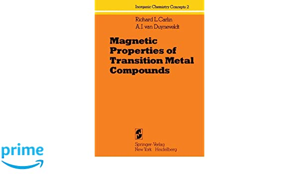 Amazon Magnetic Properties Of Transition Metal Compounds