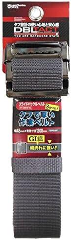( お徳用 5個セット) DBLTACT スライドバックルベルト 【グレー】 DT-SBB48-GL