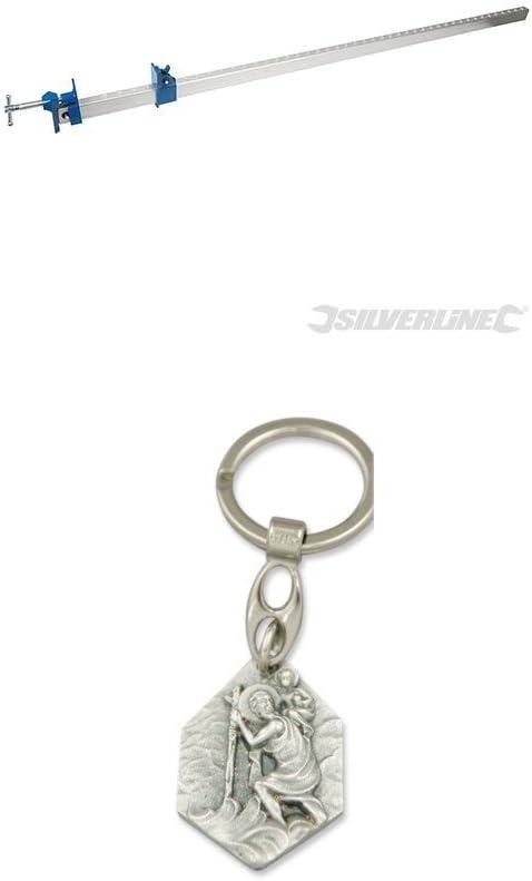 Klemmschiene 92997799990398 mit Anh/änger Hlg Silverline Aluminium-Fugzwinge 1200mm Christophorus